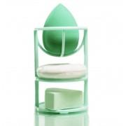 3 esponjas de maquiagem + Suporte Meily's
