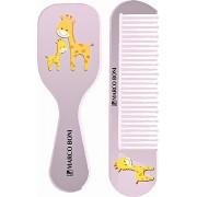 Kit Baby Zoo Pente e escova Girafa