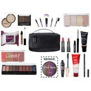 kit maleta maquiagem completo Macrilan para Presente  CII