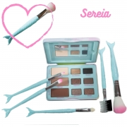 Paleta de sombra + Kit pinceis de maquiagem  Sereia