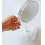Espelho dupla face com suporte 3x aumento