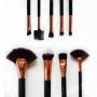 Kit 9 pinceis para maquiagem