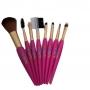 Kit com 8 pincéis de maquiagem Meily's MKP146