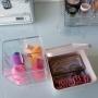 Kit organizador com porta algodão cosmético maquiagem