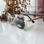 Óculos de sol aviador masculino verde