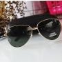 Óculos de sol aviador verde Feminino
