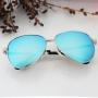 Óculos espelhado feminino na cor azul