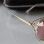 Óculos  espelhado Feminino rosa redondo