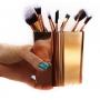 Porta Pinceis de maquiagem Organizador Metalizado