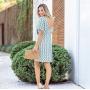 Vestido Geométrico Azul