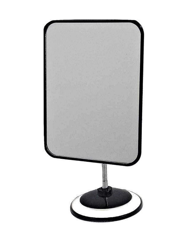 Espelho de mesa retangular base regulavel