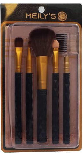 Kit pinceis de maquiagem com 5 unidades