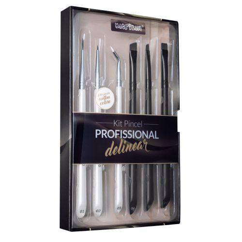 Kit Pincel Profissional para Delinear Macrilan WB700