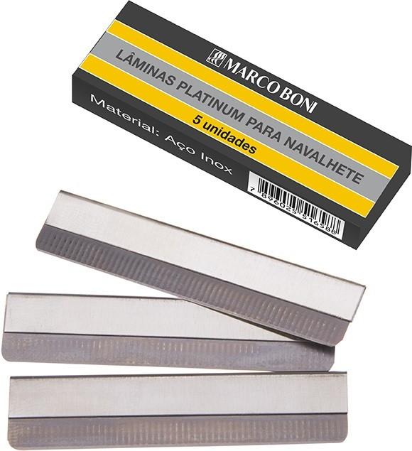 Lamina Platinum Para navalhete cx c/ 5 und