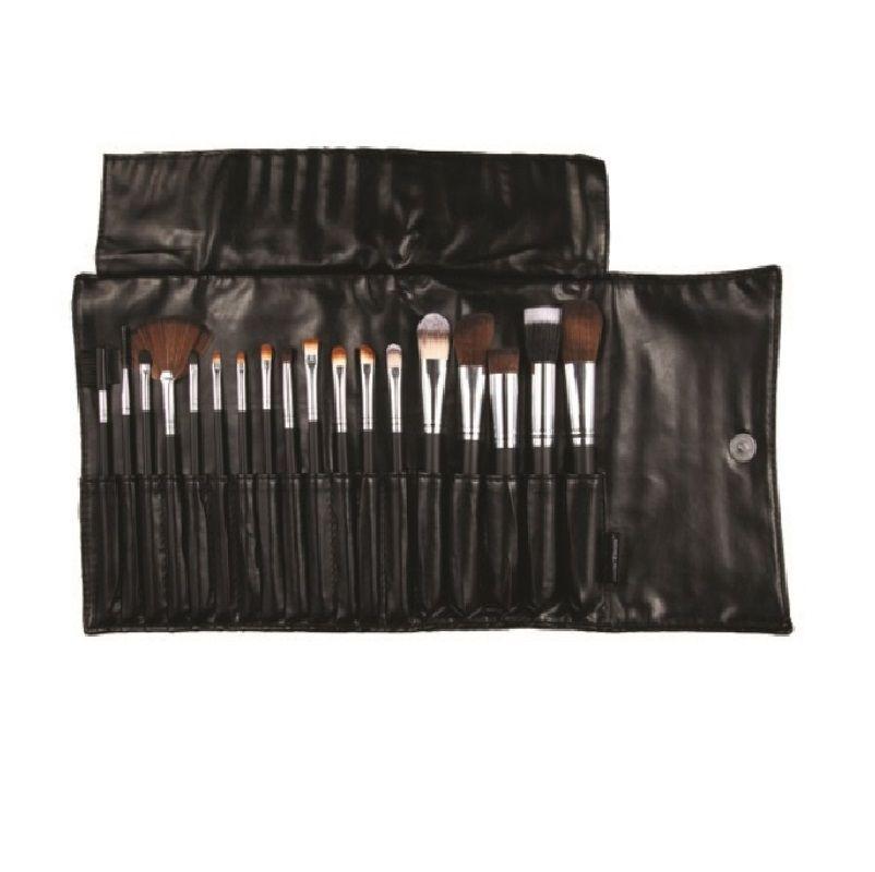 Macrilan Kit C/ 18 Pinceis Para Maquiagem Profissional Kp3-8a