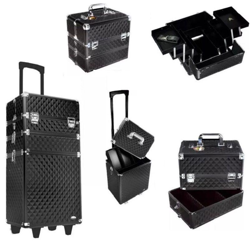 maleta de maquiagem 3 andares profissional Rubys Diamantada