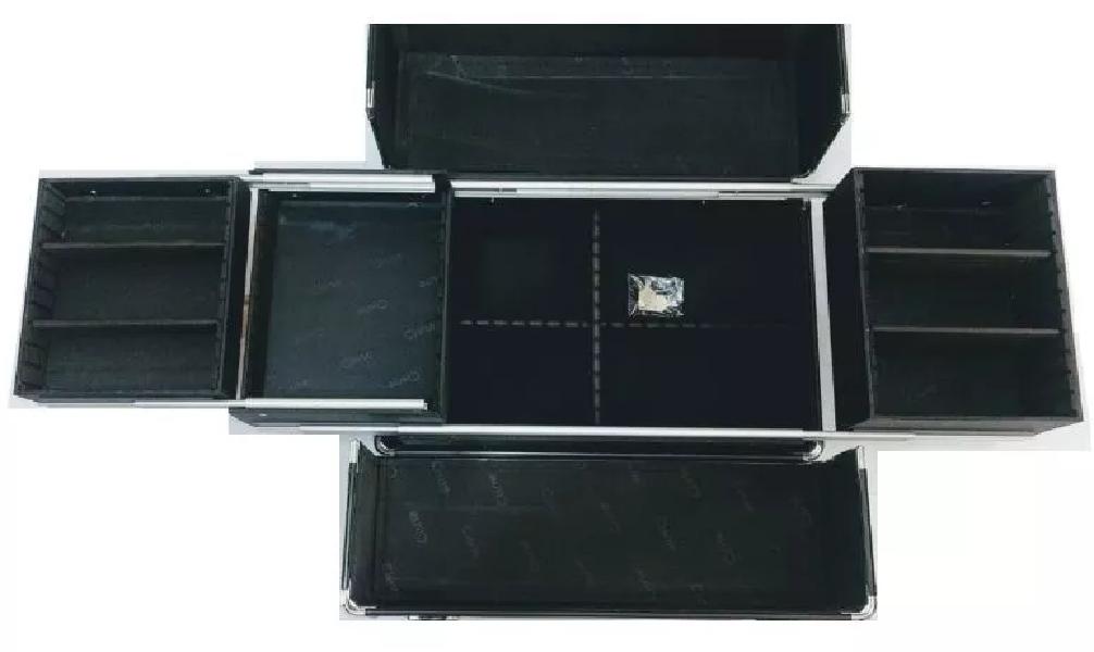 Maleta de maquiagem EX Ruby's diamantada  vazia 1181m