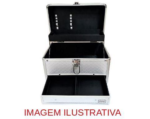 Maleta maquiagem + paletas de sombras iluminador kit Pincel