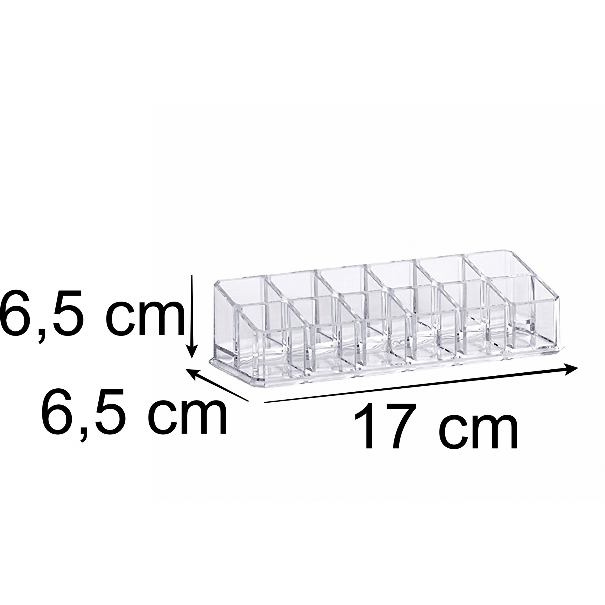 Organizador de batons retangular com 12 divisórias
