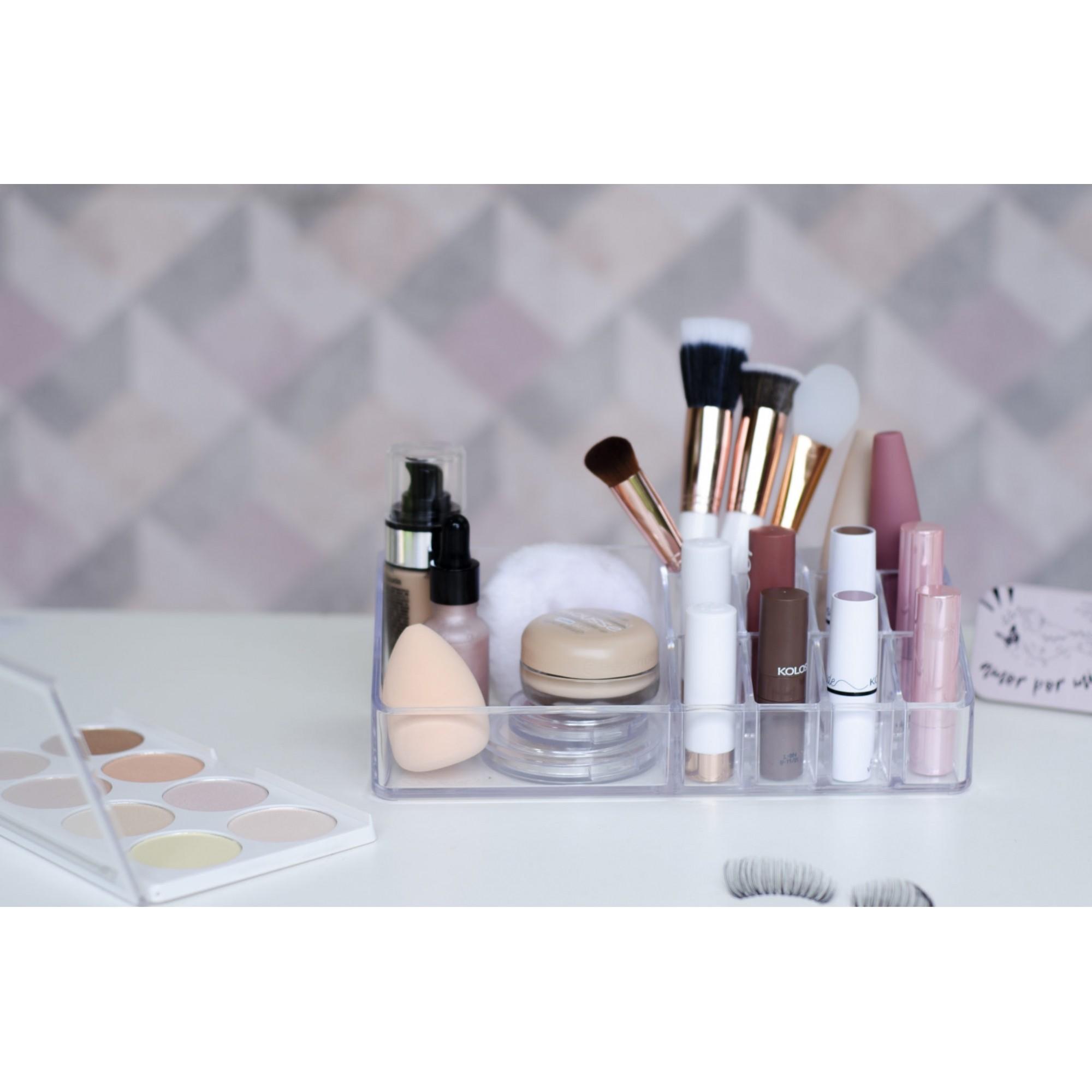 Organizador de cosméticos com 11 divisórias
