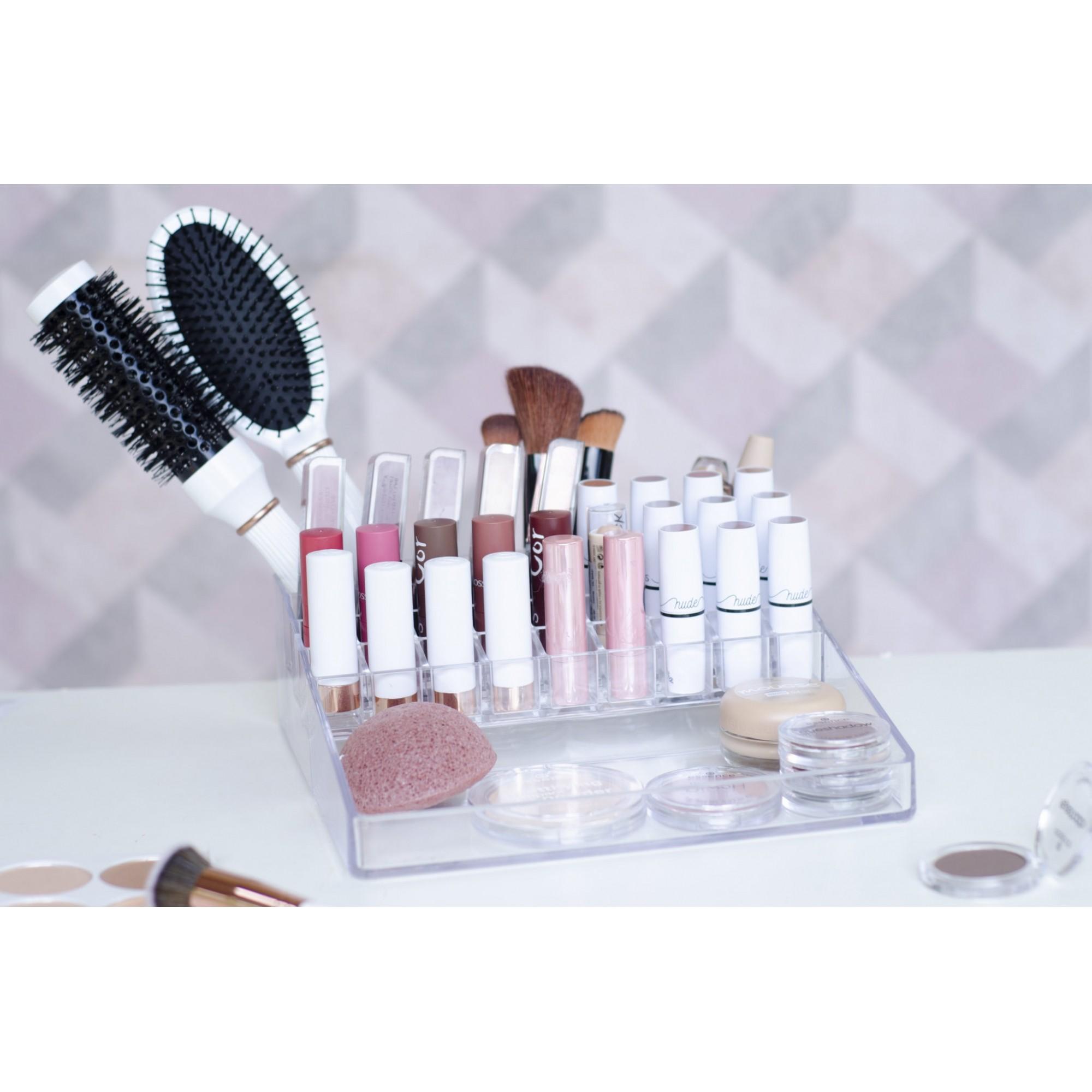 Organizador de cosméticos com 31 Divisórias porta maquiagem
