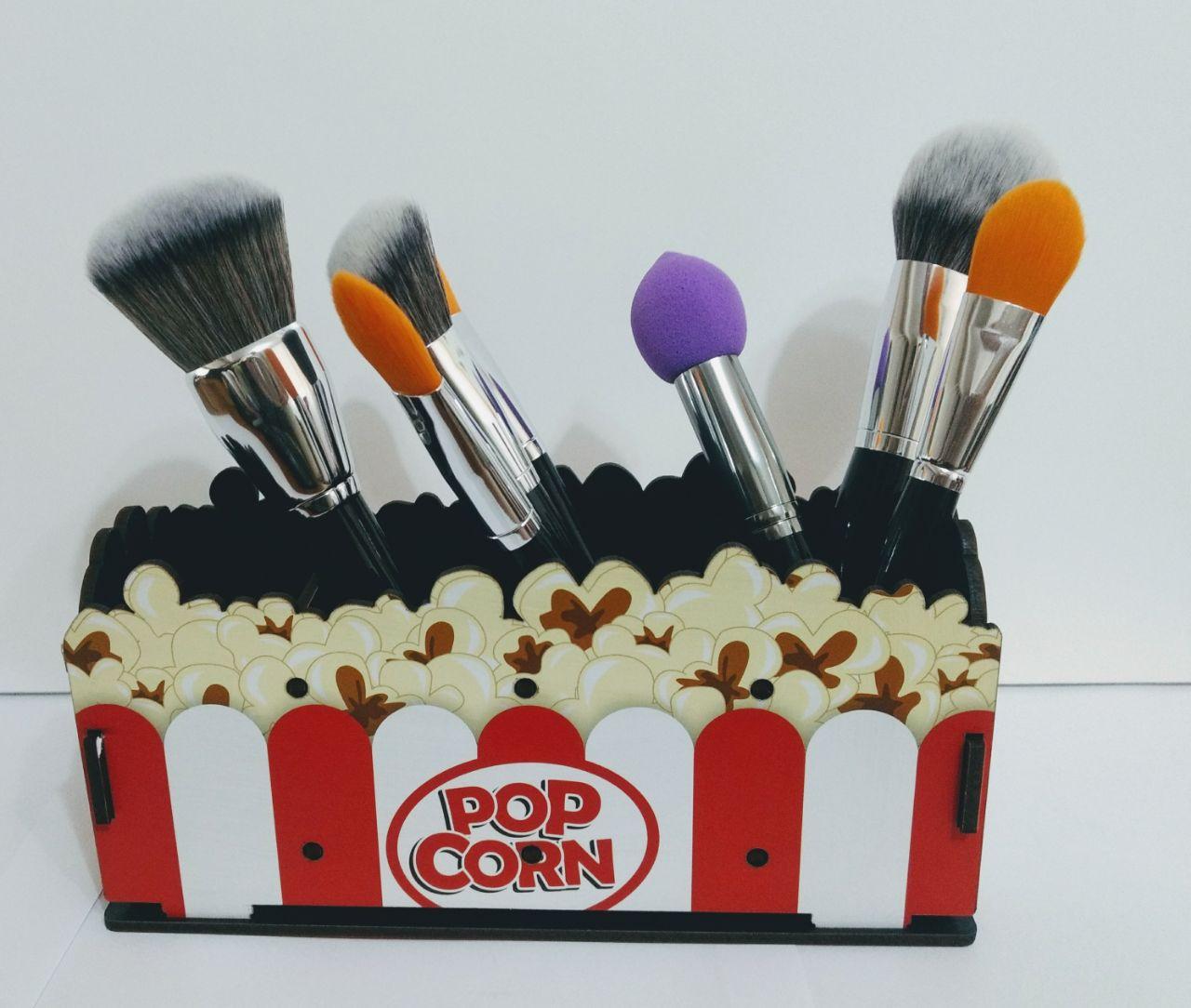 Organizador porta objetos Pincel Pop Corn MDF