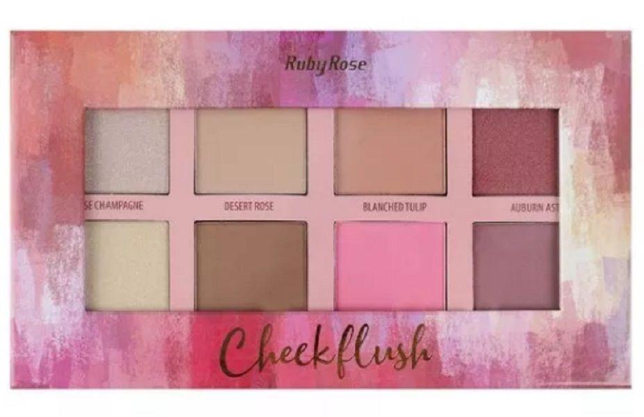 Paleta Cheek Blush Contorno Hb 7507  Ruby Rose