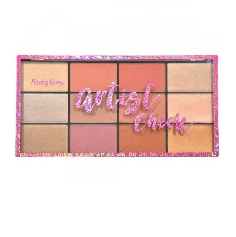 Paleta de Blush e Iluminador Ruby Rose Artist Cheek  HB7219