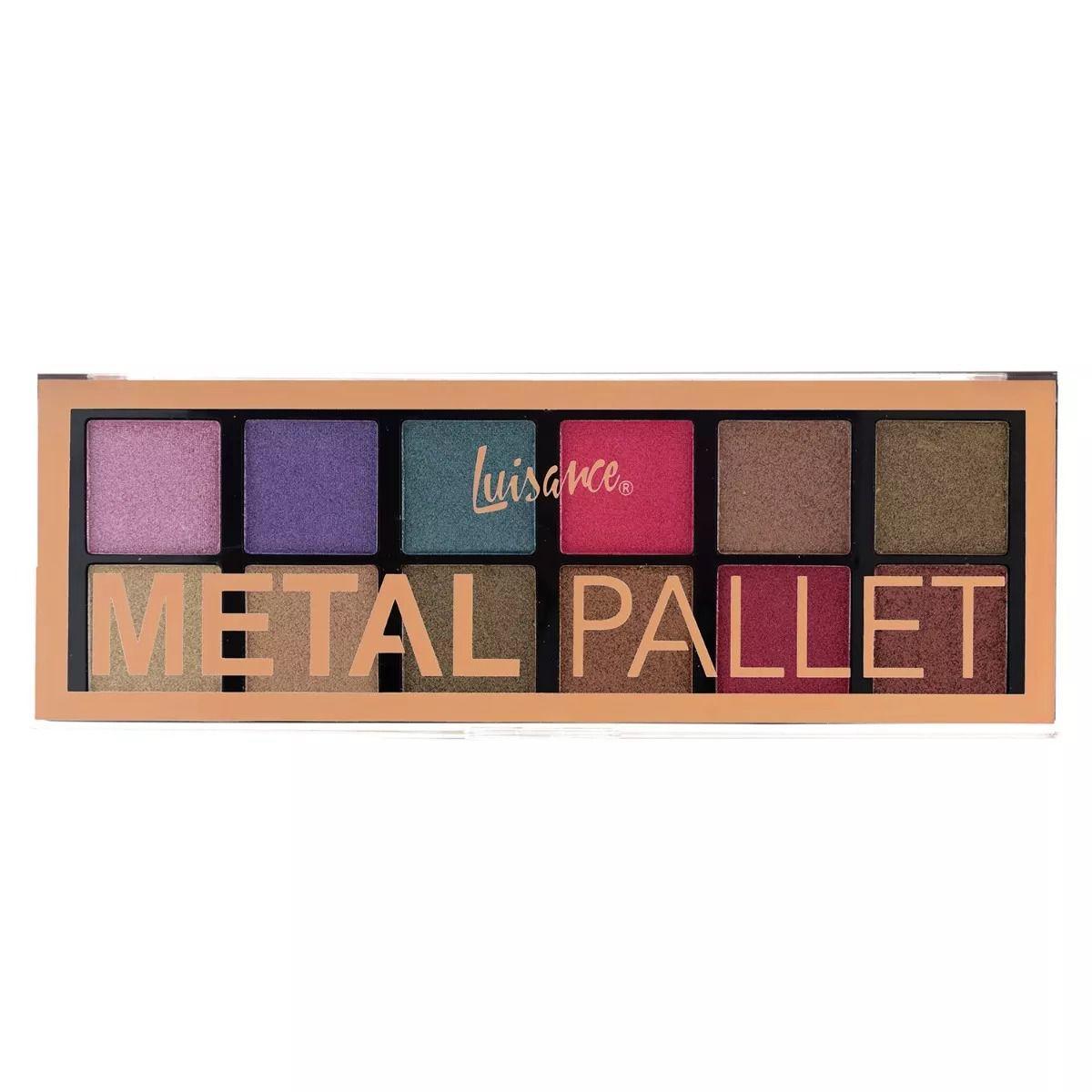 Paleta de sombra 12 cores Metal Pallete L3071