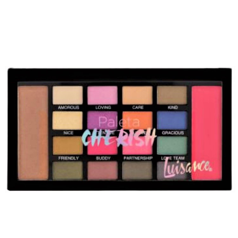 Paleta de sombra 16 cores Cherish Luisance L659