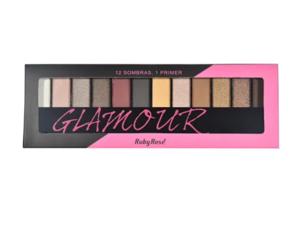 Paleta de sombra Ruby Rose Glamour 12 Cores HB9907