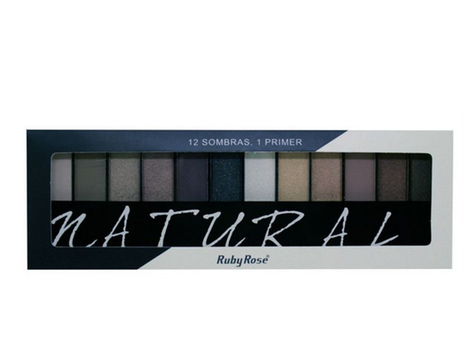 Paleta de sombra Ruby Rose Natural 12 Cores HB9908
