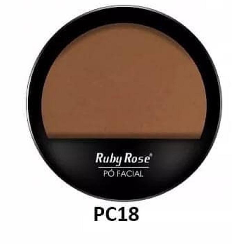 Pó compacto facial Ruby Rose ? Cor PC18 Hb7206