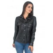 Camisa em Couro Pelica cor Preto - REF-BL-0145