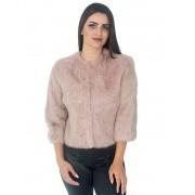Casaqueto GCB em Pele de Coelho cor Rosa Antigo - REF-CT-0113