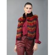 Colete Tricolor - Vermelho, Caramelo e Marrom Modelo D  - REF-CO-0196