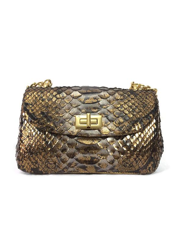 Bolsa de Python Legítimo modelo Paula- REF-BO-0320