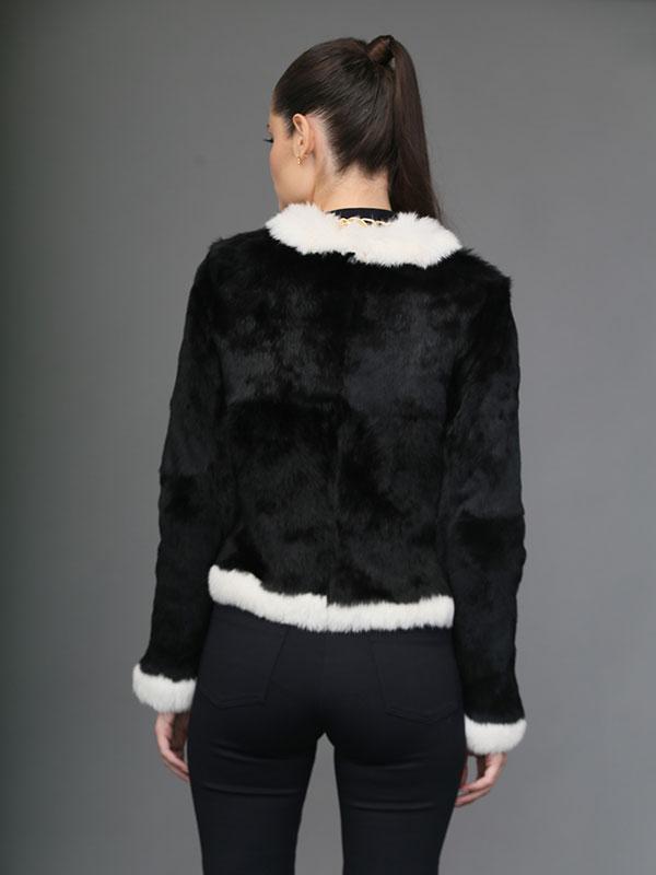Casaco Chanel Preto e Branco - REF-CT-0191