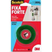 Fita adesiva dupla face Fixa Forte 19mmx2m Scotch 3M BT 1 UN Supplypack