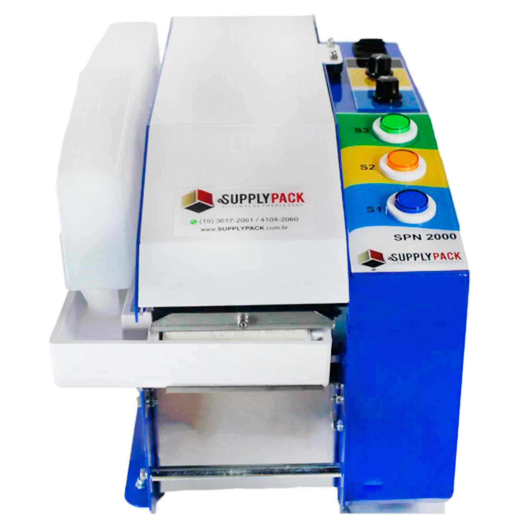 Dispensador de Fita Gomada Eletronico Semiautomatico C/ NR12 Supplypack