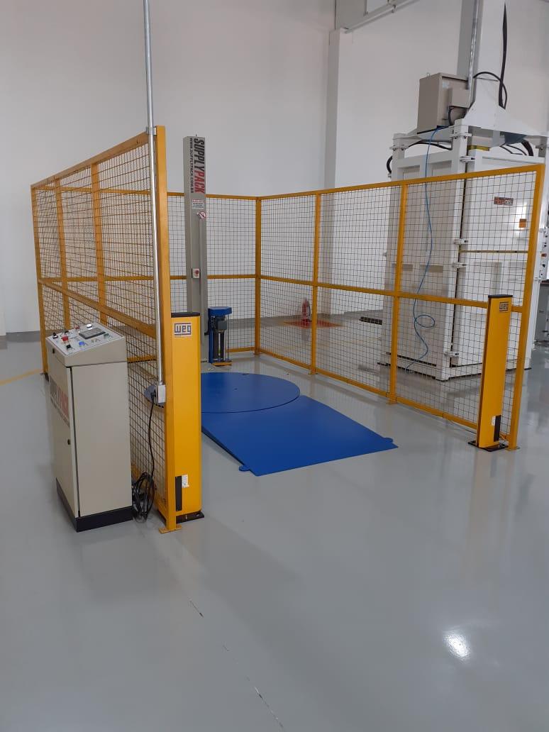 Envolvedora Strechadeira Paletizadora semi-Automatica de Filmes Stretch C/ Cabecote Motorizado Supplypack