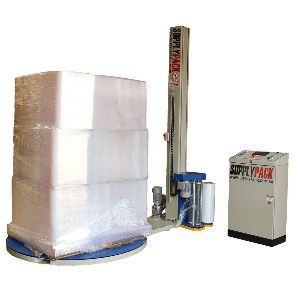 Envolvedora Strechadeira Paletizadora semi-Automática de Filmes Stretch Supplypack