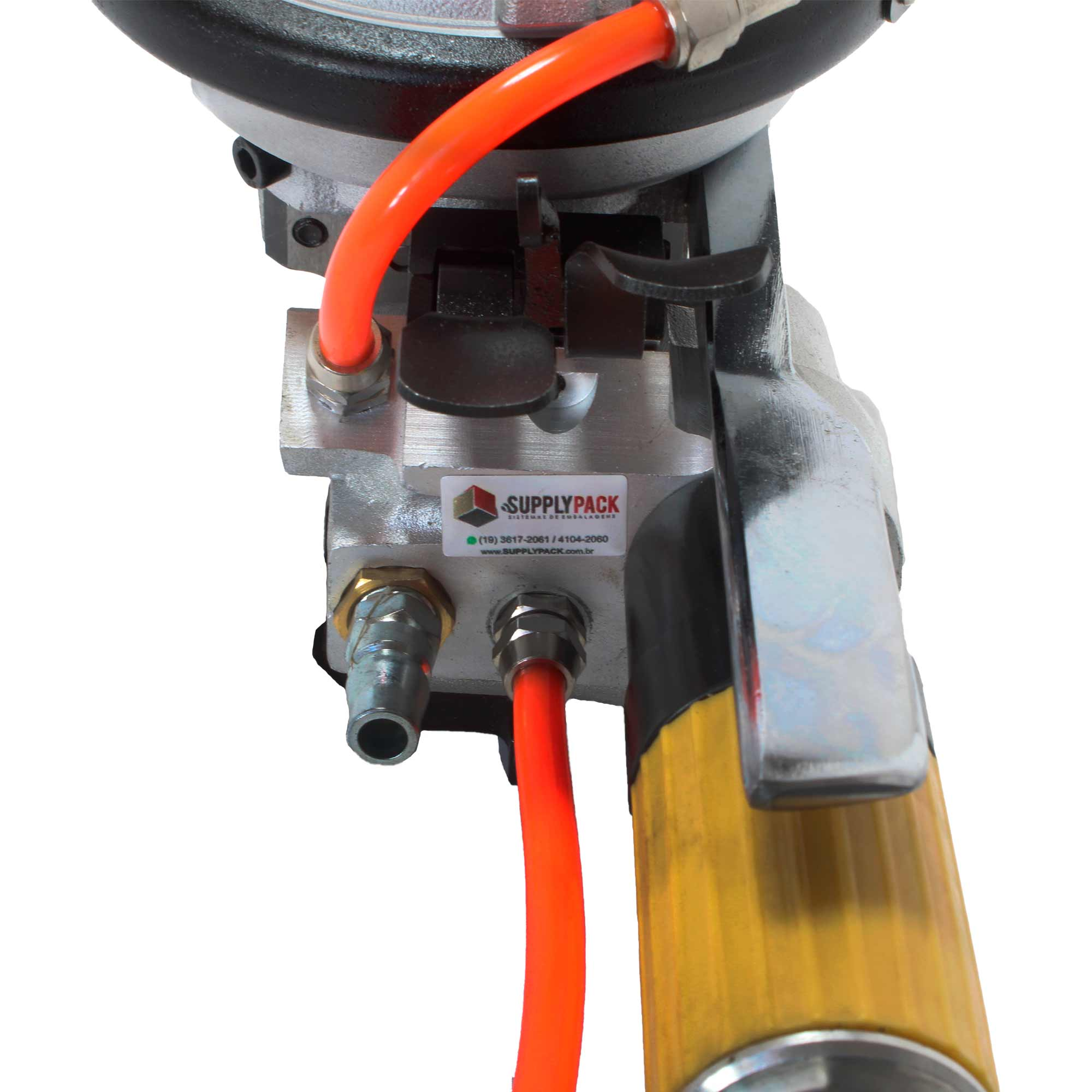 Esticador Pneumático Conjugado P/ fita de Aço 16 / 19 MM Estica / Crava / Corta Supplypack
