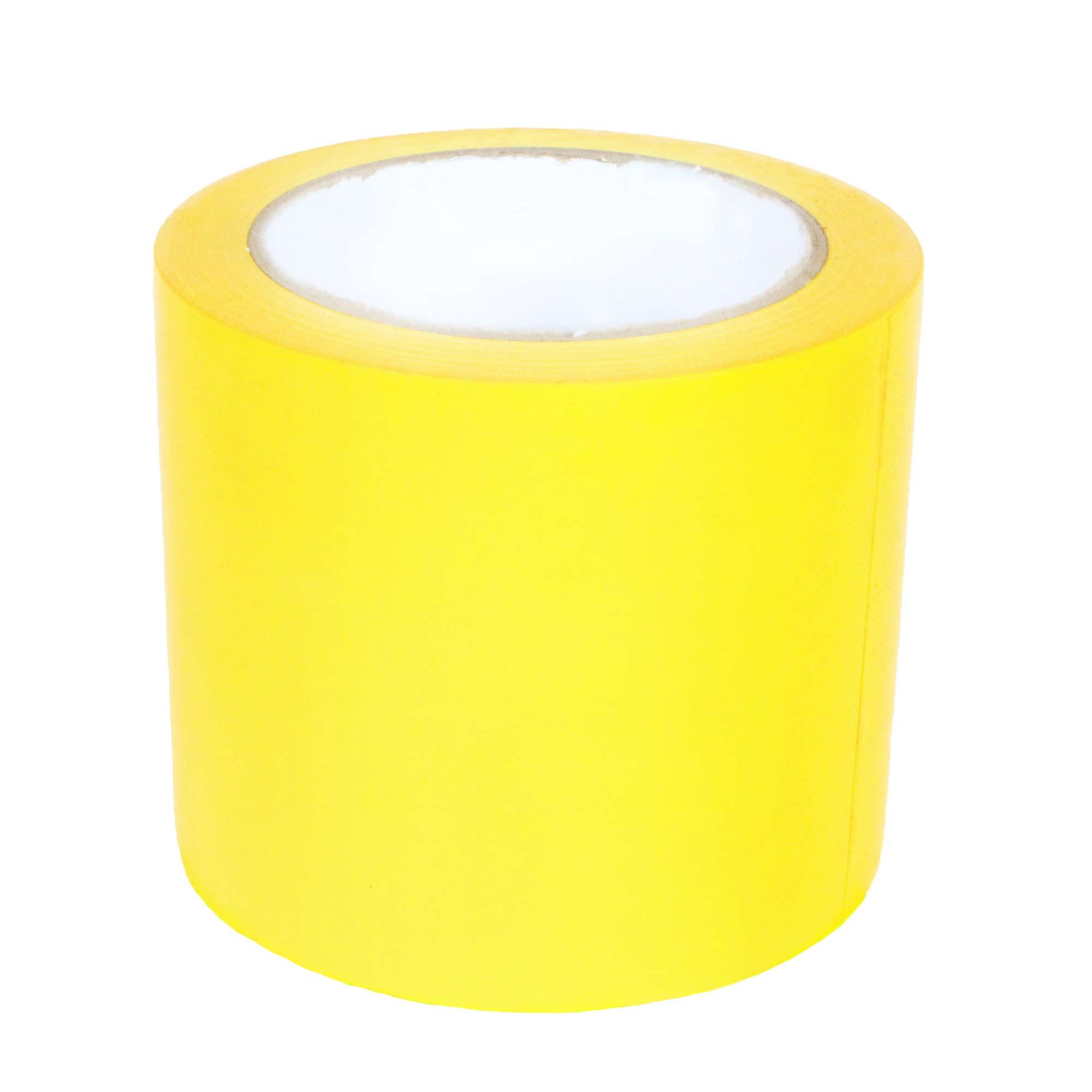 Fita Adesiva de Demarcação de Solo 100MM X 30M - Amarela Supplypack