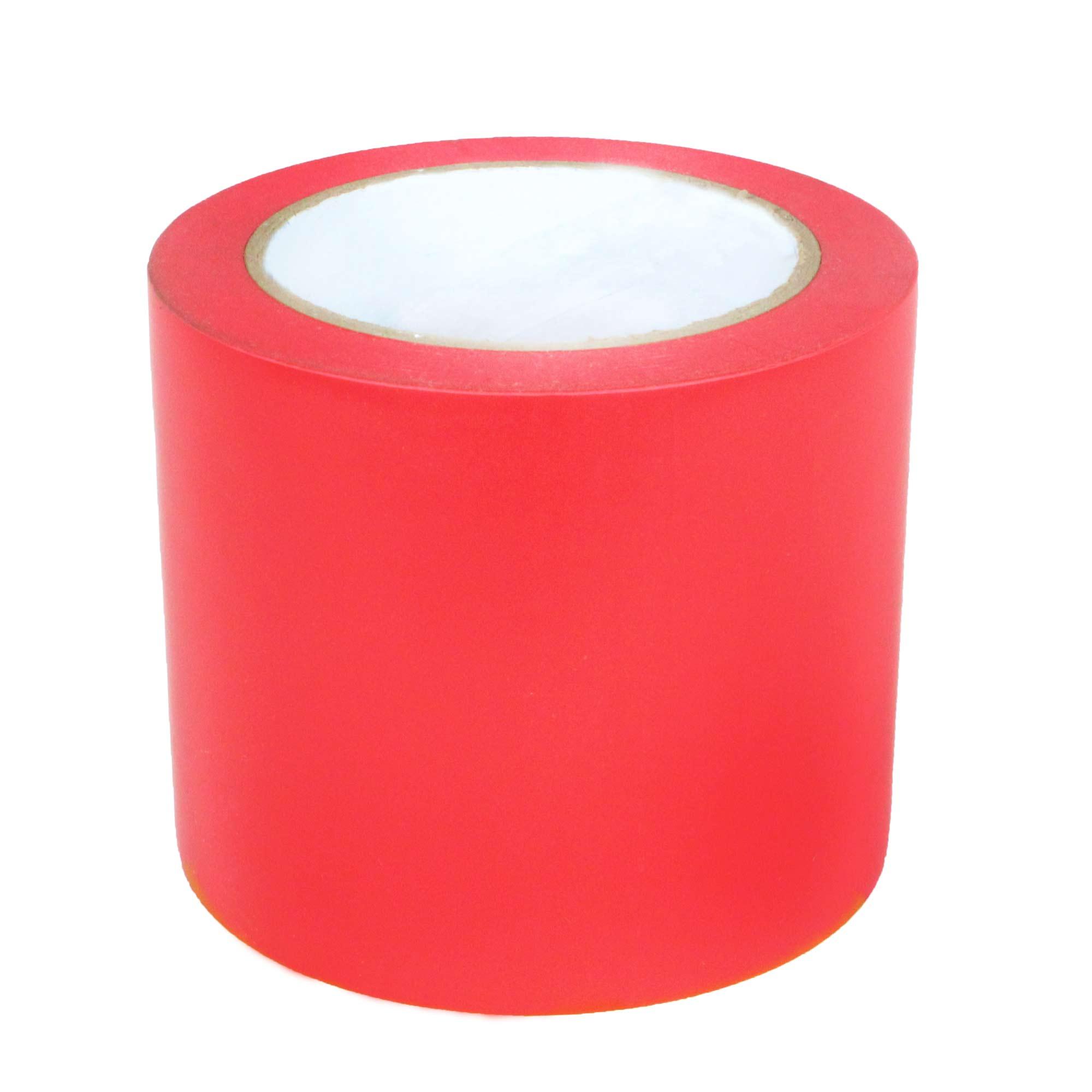 Fita Adesiva de Demarcação de Solo 100MM X 30M - Vermelha Supplypack