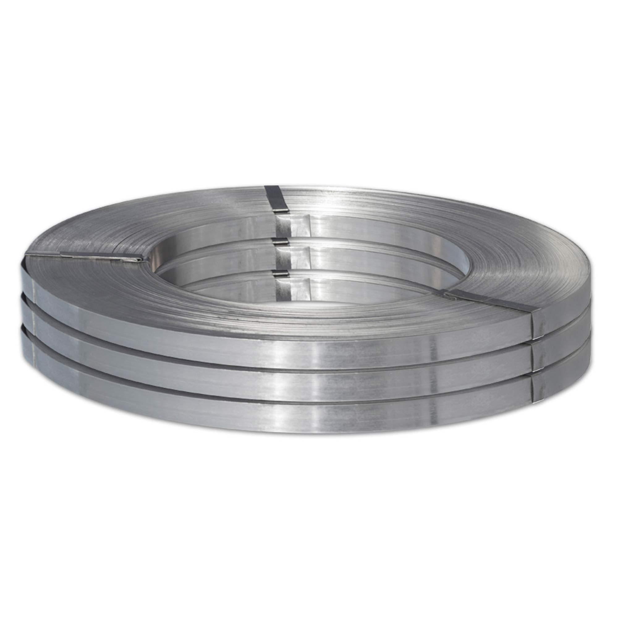 Fita de Aço Prata Polida FE-1 25 x 0,8mm