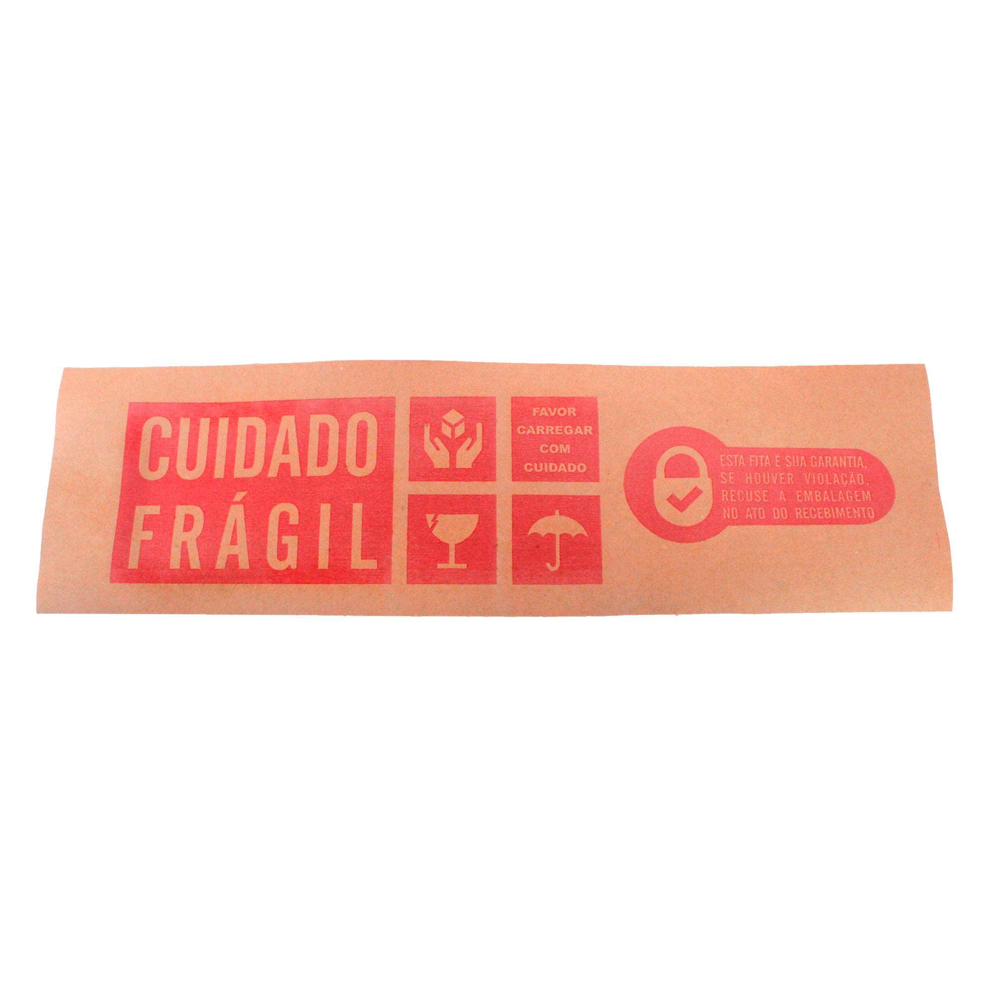 Fita Gomada Cuidado Frágil 80mm c/ Reforço 1,5 kg Supplypack