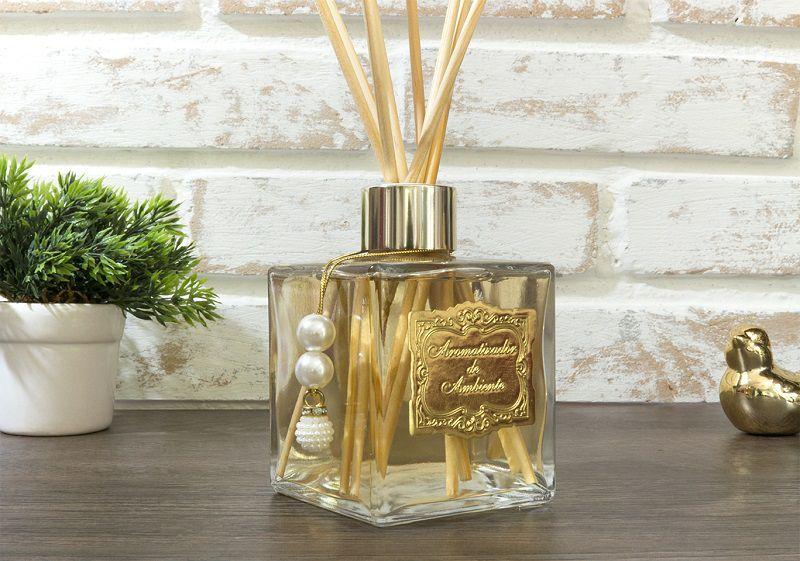 Difusor de Aromas - Cubo em Pérolas - Dourado - 250ml