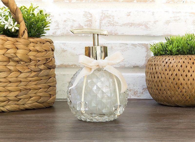 Sabonete Líquido - Esfera Classic Cristal - Dourado - 220 ml