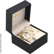 Kit Relógio Champion Feminino Dourado Passion CH24268D